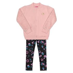 Conjunto Jaqueta E Legging Infantil Hello Kitty