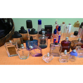 Lote De 40 Vidros Vazios De Perfumes Sem Tampa