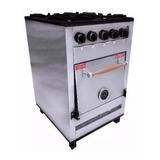 Cocina Industrial Pevi 4 Hornallas 55cm Acero Inox Horno