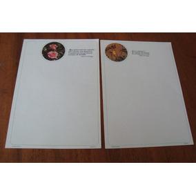 03 Papel De Carta Decorado Medio Mensagens / A Escolher