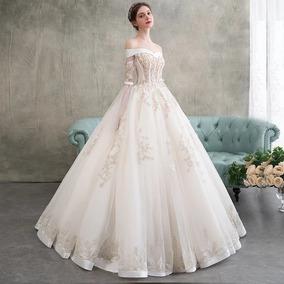 Vestido Xv Años Corte Princesa Dorado Envió Gratis ! Hs003