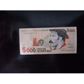 Nota Cédula 5000 Mil Cruzeiros Reais 1993 Gaúcho Ler Abaixo