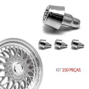 Kit 150 Rebite N 2 Pino Lateral Roda Estriado Reto Cromado