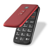 Celular Multilaser Flip Vita Vermelho P9021 P/ Idoso Sos