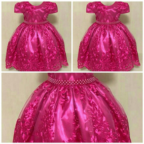 Vestido Infantil Festa Luxo Princesa Realeza Pink Casa 2135