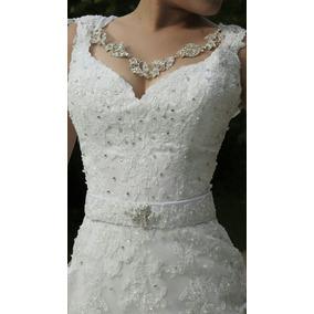 Vestido De Noiva, Luxo, Princesa, Com Cauda, Sereia,catedral