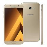 Samsung Galaxy A7 2017 4g 32gb 16mp Dourado Semi Novo
