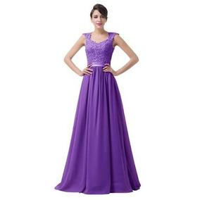 Vestidos de fiesta largos color violeta