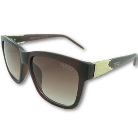 72320edc24d Óculos De Sol Gucci Feminino Lmj029 Luxo Uv400 Frete Grátis