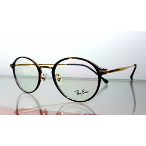 7f8c3dee8f7a8 Monturas Gafas Rayban Redondas Round Hombre Mujer Carey Cafe