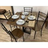 Mesa Tomasina Con 4 Sillas Cafeterías Restaurantes Bares