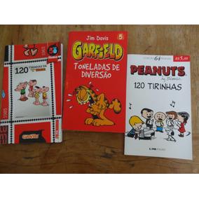 Três Gibis - Tirinhas Da Monica + Peanuts + Garfield
