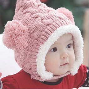 Touca Forrada Pompom Bebê Gorro Frio Infantil Criança A 2 2755e9cf73b