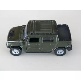 Carrinho De Metal Para Coleção Hummer H2 Verde 1/46