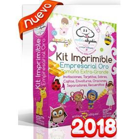 Kit Imprimible Empresarial Invitaciones + Regalos 2018