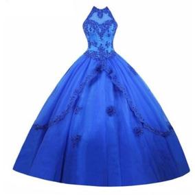 Fotos de vestidos de 15 en color azul