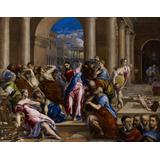Cristo Templo Agiota Religião De El Greco Tela 72cm X 55cm