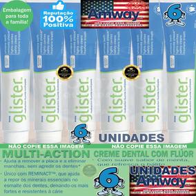 Creme Dental Glister Da Amway 6 Unidades 200g Americana Glis