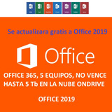 Office 365, (2019 Pro) 5 Equipos, Win/mac/tablet, No Expira
