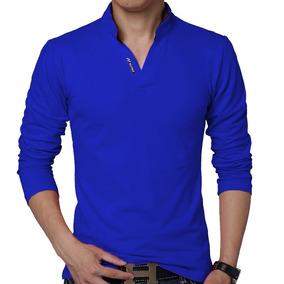 Camisa Azul Bic - Pólos Manga Curta Masculinas no Mercado Livre Brasil 15f84bf1afe