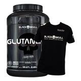 Glutamina Caveira Preta (1kg) Gratis Camiseta Black Skull