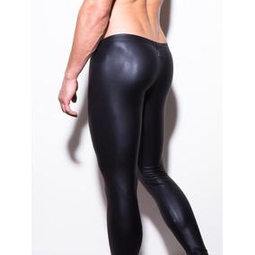 Pantalones Cuero Imitacion Hombre Leggins Ajustado Masculino