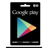 Tarjetas Google Play $10 Entrega Inmediata