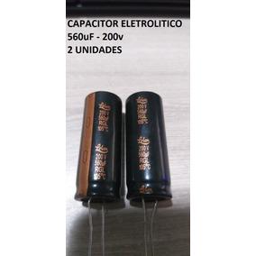 2 Unid Capacitor Eletrolítico 560uf 200v 105° Pronta Entrega