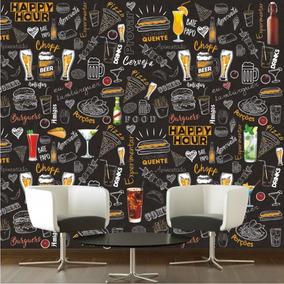 Adesivo Lousa Decorativa Com Desenhos Bar Sala Cozinha M109