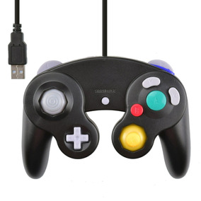 Controle Joystick Game Cube Para Pc Usb Preto