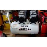 Compresora Newall Dental Silenciosa 50 Litros - 2 Hp Brasil