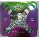 Kit Relação Transmissão Kmc Com Retentor - Yamaha Factor 125