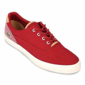 Tenis Lacoste Casuales Para Caballero Casuales Jouer 117 Red