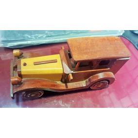Carro Miniatura Retro Madeira Nobre - Calhambeque