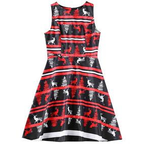 Ronda Collar Raya Alce Navidad Impresión Mujeres La Línea