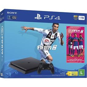 Console Ps4 1tb + Jogo Fifa 19 Sony