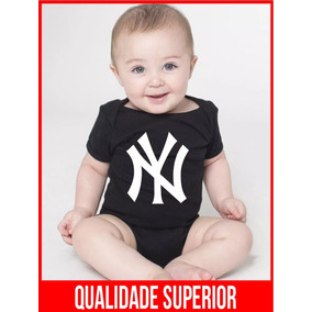 Body Bebe New York Yankees Nyy Basebal Roupas Bodies ab572790081