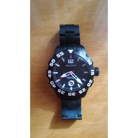 0bdbc66c158 Relógio Masculino Náutica Com Pulseira Em Aço