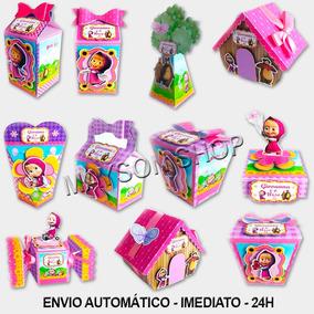 Kit Digital Arquivo De Corte Silhouette Festa Masha E O Urso