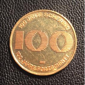 Moeda Ouro 100 Jahre Schering - 10,47g - Alemã
