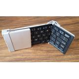 Teclado Bluetooth Plegable Compacto Para Tablet Y Telefono