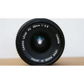 Lente Canon 28 Mm 2.8 . Montura Fd . Conservado .