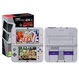 New 3ds Xl Super Nintendo + 32 Juegos 32gb Cargador