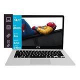 Notebook Cx 14 Intel 4gb 32gb Emmc 240gb Ssd Win Office