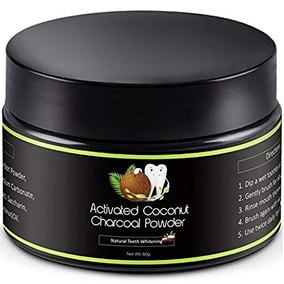 Polvo Dental De Carbón Activado Vegetal Orgánico De Coco