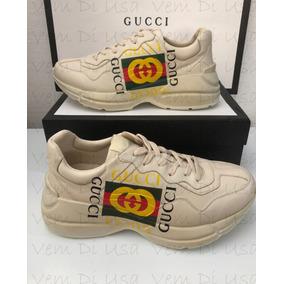 Tênis Gucci Rhyton Com Logo Masculino - Última Peça