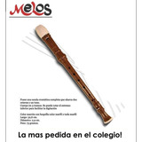 Flauta Dulce Soprano Para La Escuela Melos Marron