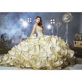 Imagenes de vestidos de xv blancos con dorado
