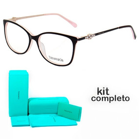 d0d8663128d89 Óculos De Grau Quadrado Tiffany - Óculos Preto no Mercado Livre Brasil