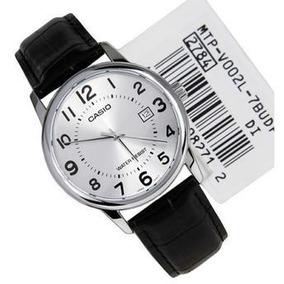 Relógio Casio Social Mtp V002 Branco Couro 100% Original